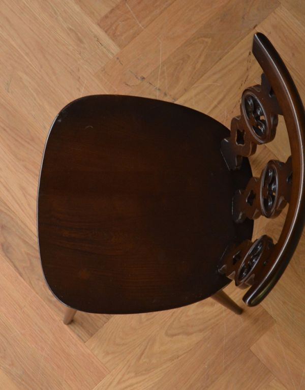 ear-19-ct アンティークアーコールウィンザーチェア(チョコレート)の座面