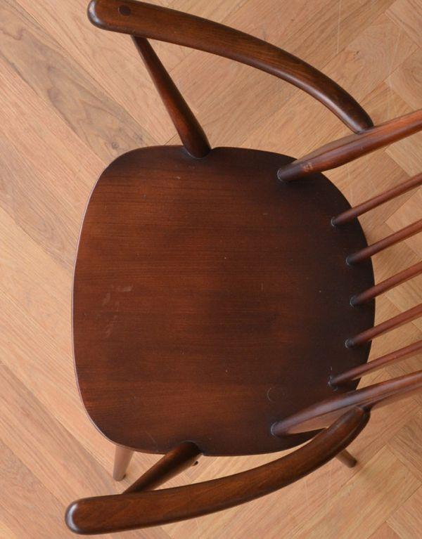 ear-1a-kt アンティークアーコールゴールドスミス アームチェア(カラメル色)の座面