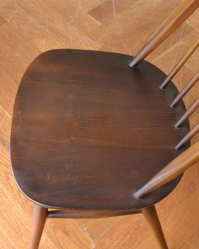 ear-2-ct アンティークアーコールクエーカーチェア(タグ有り)の座面