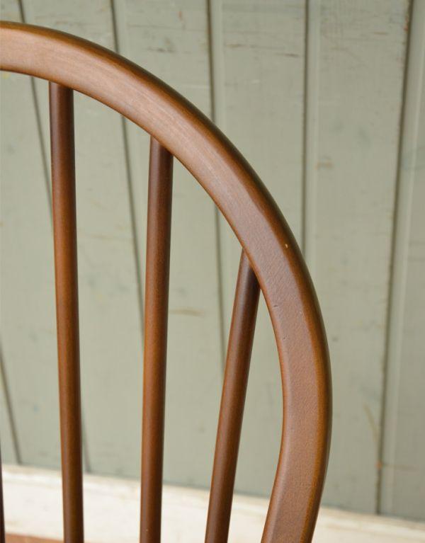 ear-6-ct アンティークアーコールフープバックチェア(チョコレート色)の背もたれ