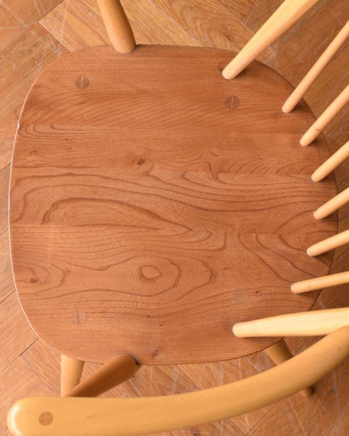 ear-6al-at アンティーク アーコール フープバックチェア(アップルパイ色)の座面