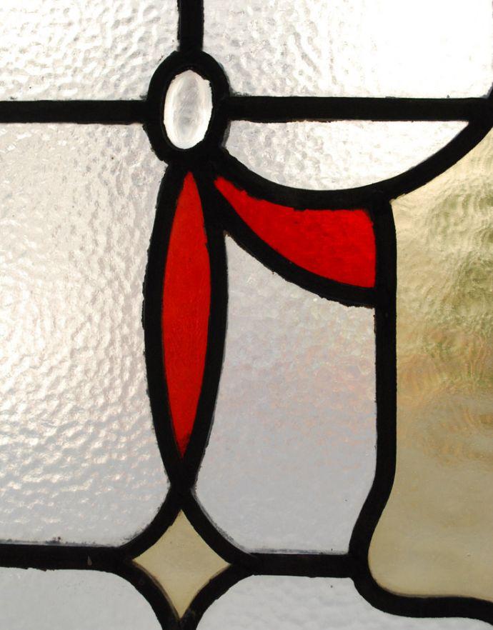 g-324 アンティークステンドグラスのアップ