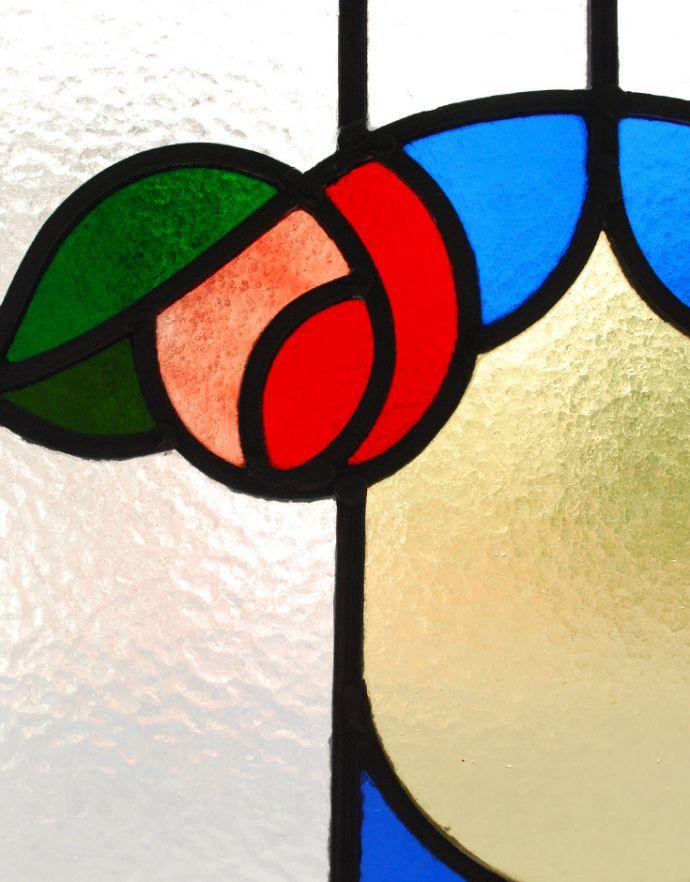 g-956 アンティークステンドグラスのガラス
