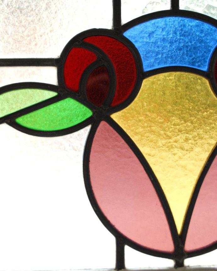 g-964 アンティークステンドグラスのガラス