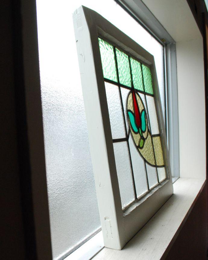 g-972 アンティークステンドグラスの横