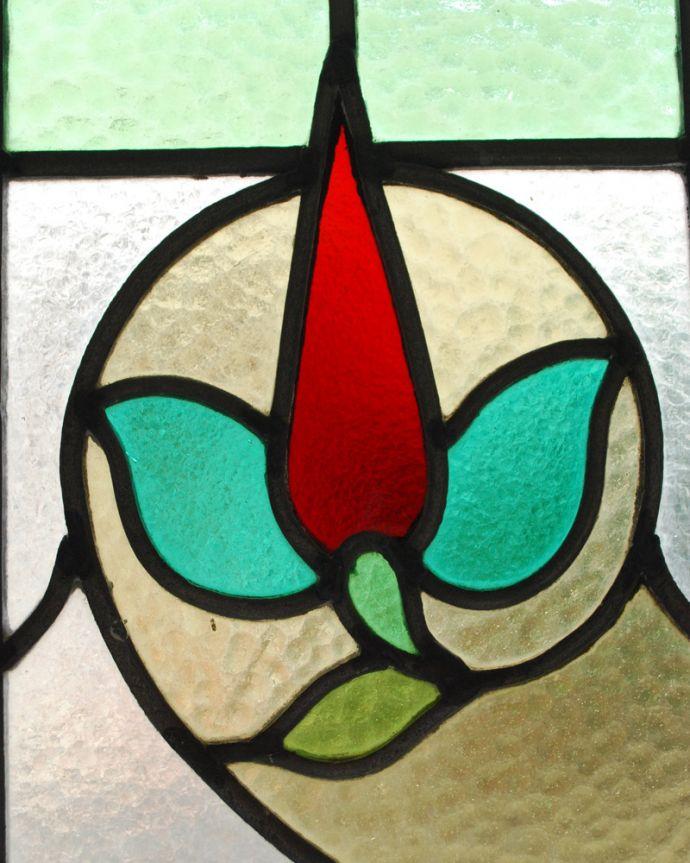 g-972 アンティークステンドグラスのガラス