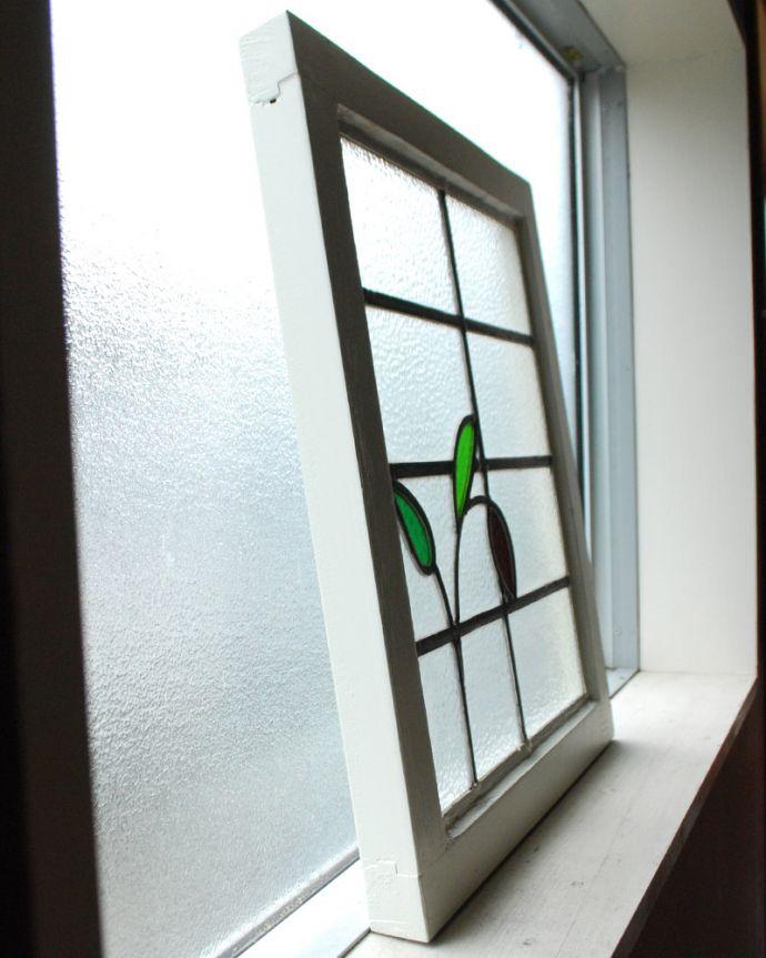 g-973 アンティークステンドグラスの横