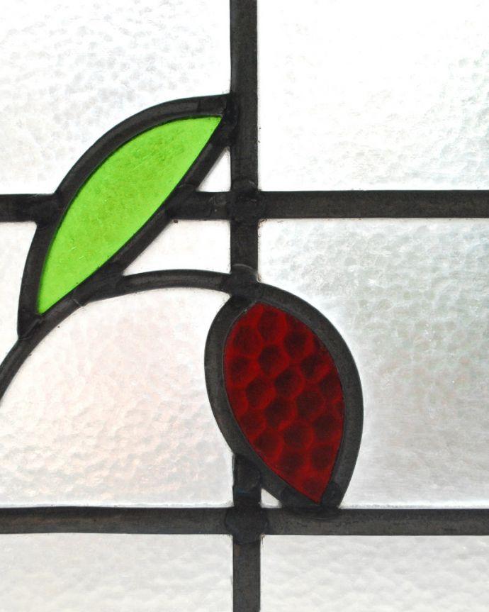 g-973 アンティークステンドグラスのガラス
