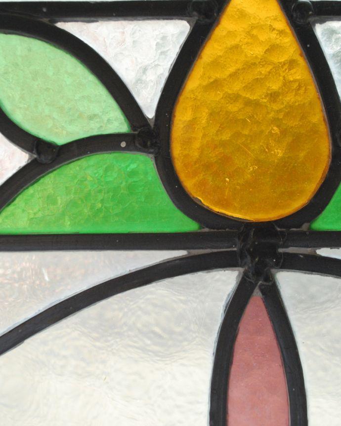 g-977 アンティークステンドグラスのガラス