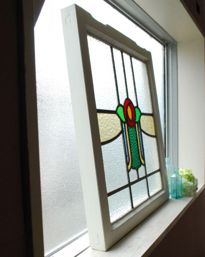 g-985 アンティークステンドグラスの横