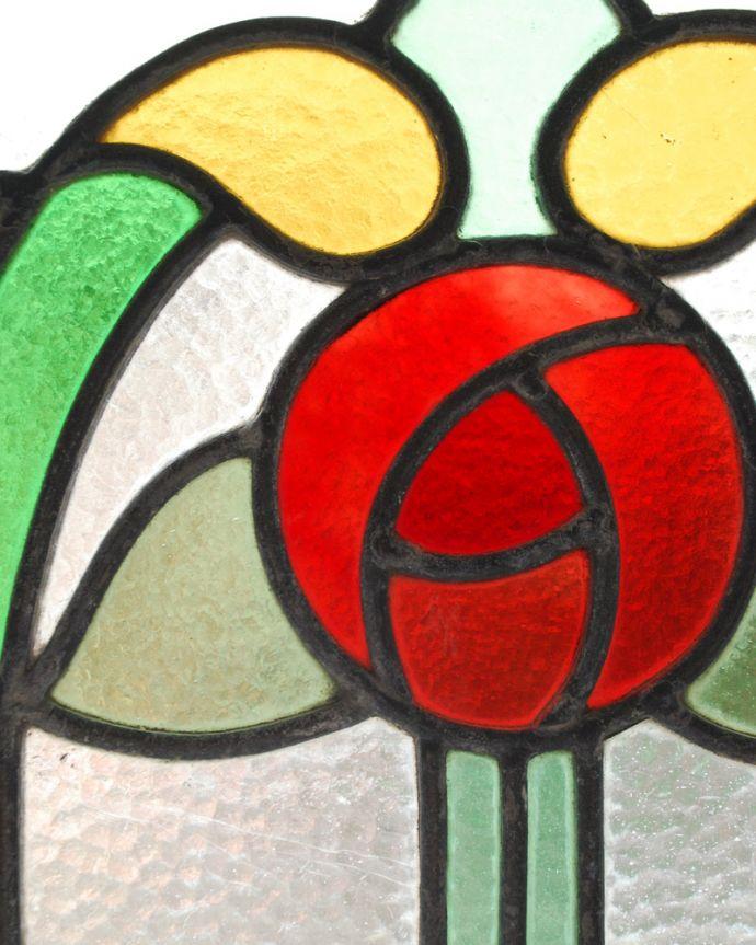 g-986 アンティークステンドグラスのガラス