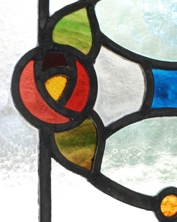 g-992 アンティークステンドグラスのガラス
