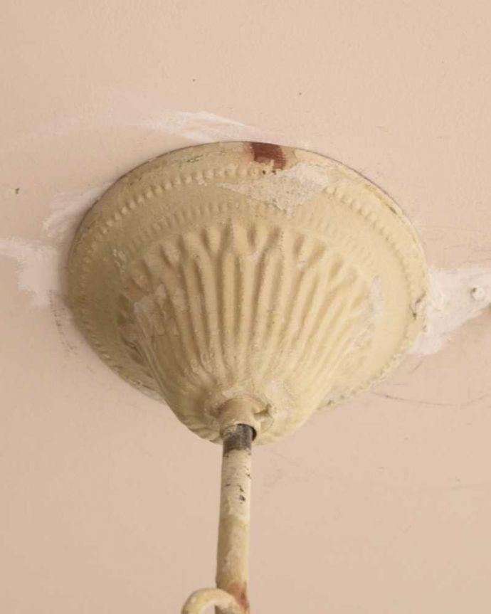 シャンデリア 照明・ライティング アンティーク風フレンチシャンデリア(WH)(3灯)(E17シャンデリア球付)。。(gc-171)