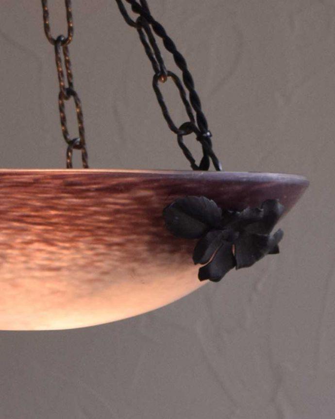 h-354-z アンティークハンギングボウル点灯のズーム