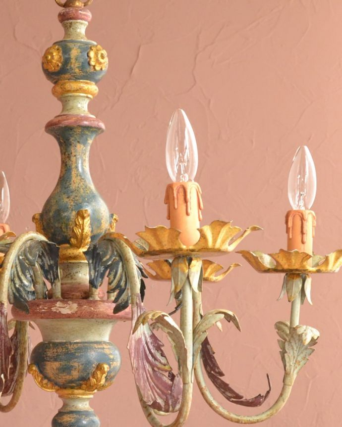 照明・ライティング シャンデリア 可愛いデザイン思わず微笑んじゃうくらい可愛いデザインはフランスらしさ。(h-392-z)