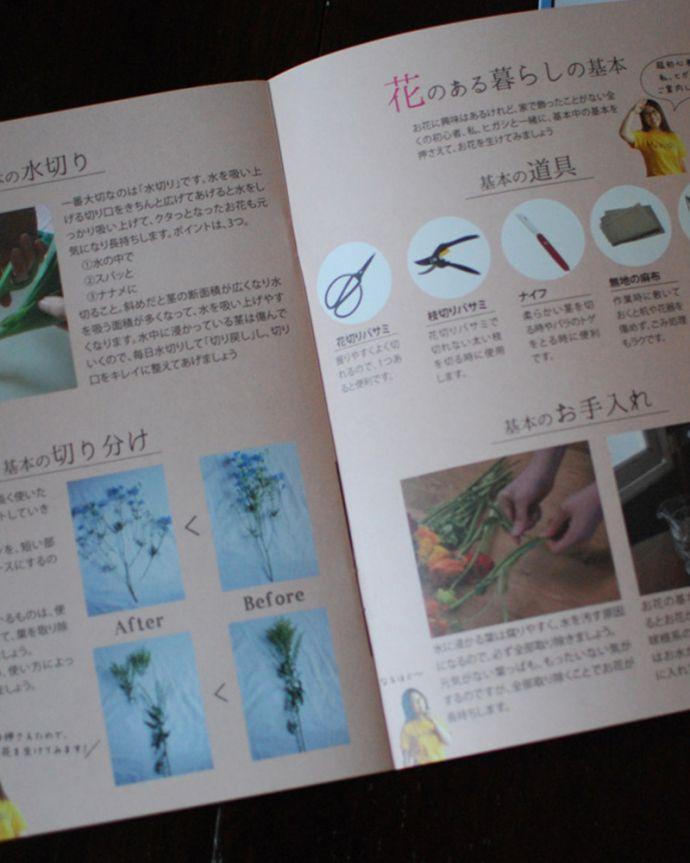 オリジナル冊子&とカタログもお届けしますHandleのオリジナル冊子PAPER CAFFEの「お花特集号」と、アンティーク雑貨のカタログの2冊も一緒にお届けします。(h-906-z)
