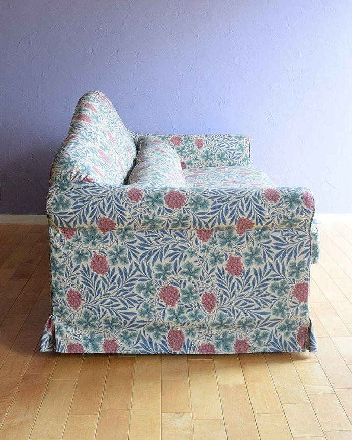 ウィリアムモリスのソファの側面
