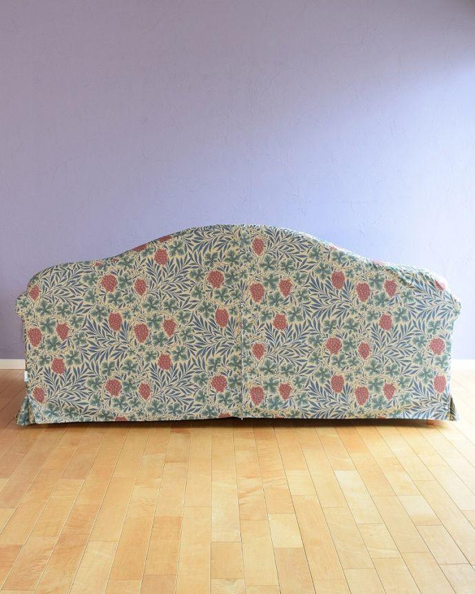 ウィリアムモリスのソファの後ろ姿