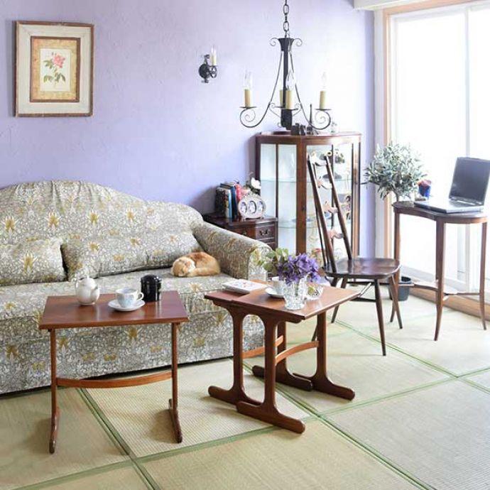 和室にも似合うウィリアムモリスのソファ