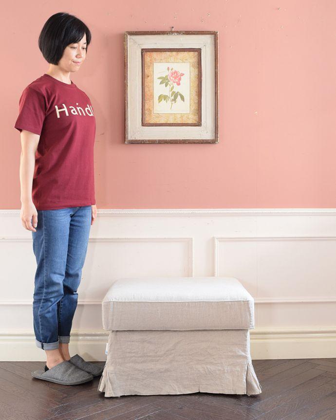 アンティーク風の椅子 アンティーク風 お家の洗濯機で洗えるHandleオリジナルスツール 女性らしいデザインが魅力の「Marie」Handleオリジナルソファ「Marie」と合わせてお揃いで使える、スツールです。(hos-200)