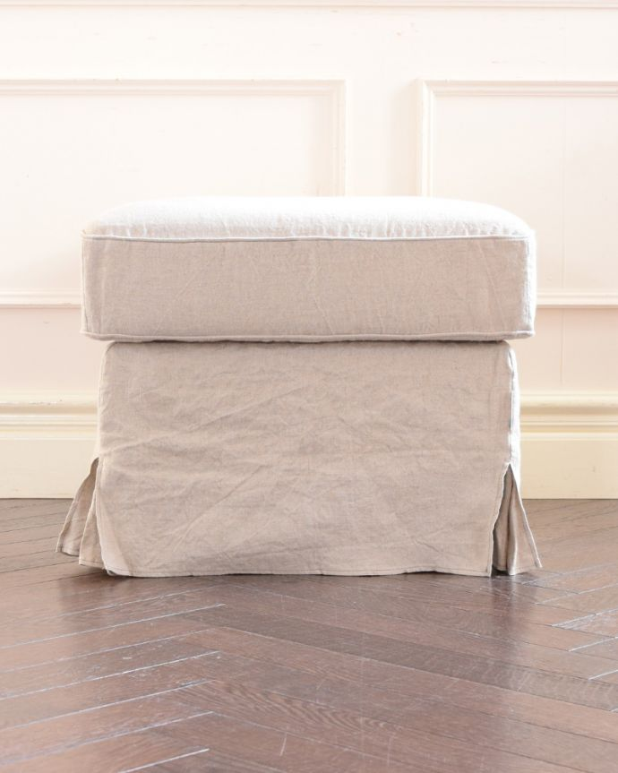 アンティーク風の椅子 アンティーク風 お家の洗濯機で洗えるHandleオリジナルスツール 横から見ると…360度、どの角度から見てもエレガントで優雅な雰囲気にこだわりました。(hos-200)