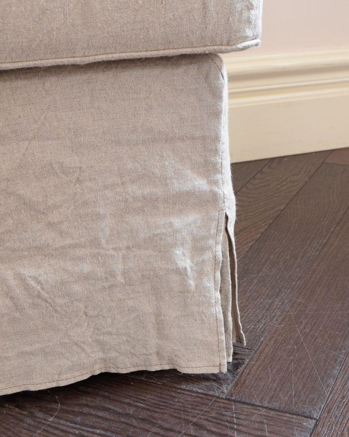 アンティーク風の椅子 アンティーク風 お家の洗濯機で洗えるHandleオリジナルスツール 足元にも気を使って・・・脚先も優雅に。(hos-200)