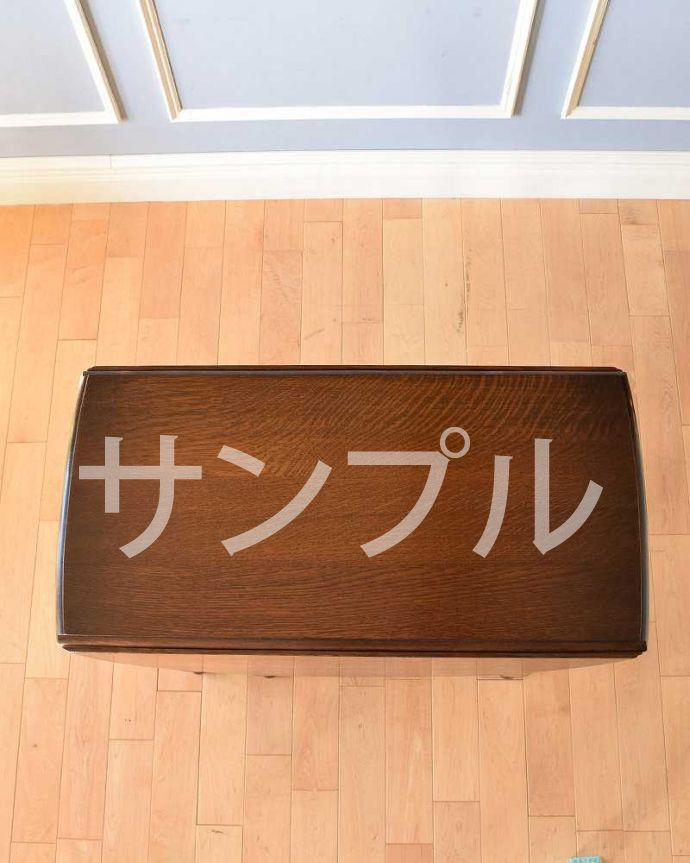 ●●●-f  アンティークゲートレッグテーブルの天板(閉じた状態)