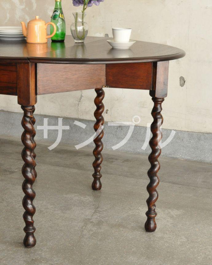 ●●●-f アンティークゲートレッグテーブルのズーム