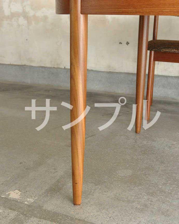 ●●●-f アンティークダイニングテーブル(伸張式)の普通の脚