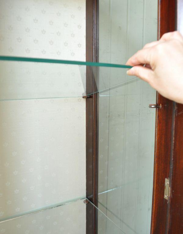 j-1260-f アンティークショーケースのガラス棚板