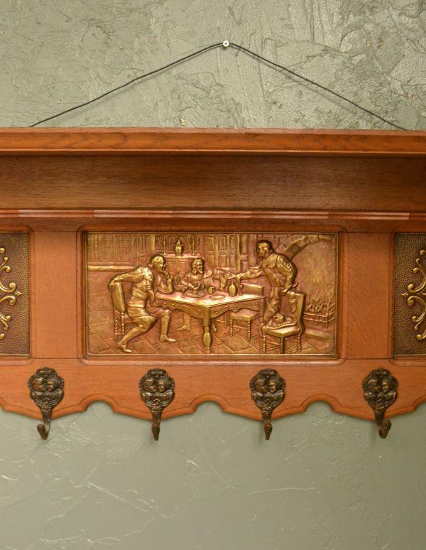 j-1302-f アンティークウォールシェルフの装飾