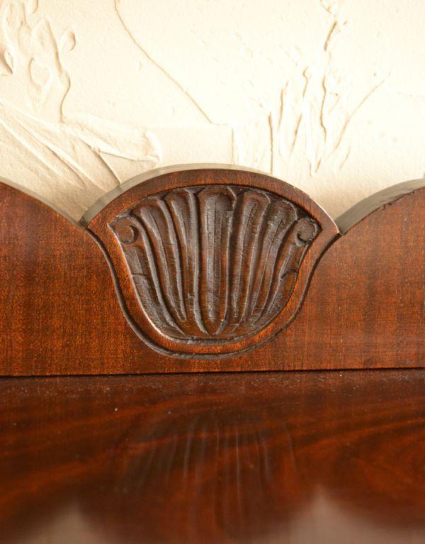 j-1319-f アンティークガラスキャビネットの装飾