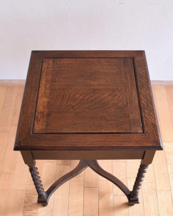 j-1480-f-1 アンティークオケージョナルテーブル(ゲームテーブル)の天板1
