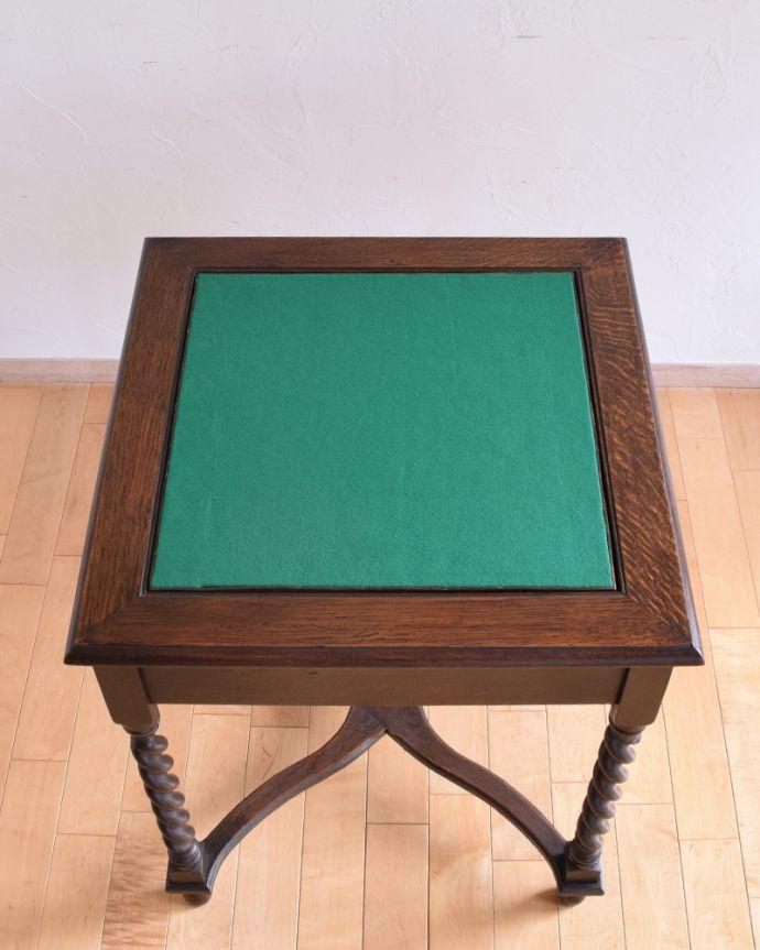 j-1480-f-1 アンティークオケージョナルテーブル(ゲームテーブル)の天板2