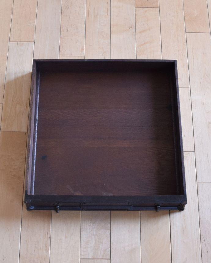 j-1480-f-1 アンティークオケージョナルテーブル(ゲームテーブル)の引き出し