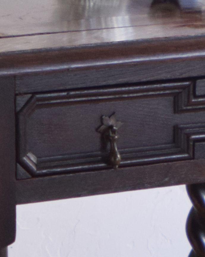 j-1480-f-1 アンティークオケージョナルテーブル(ゲームテーブル)の取っ手