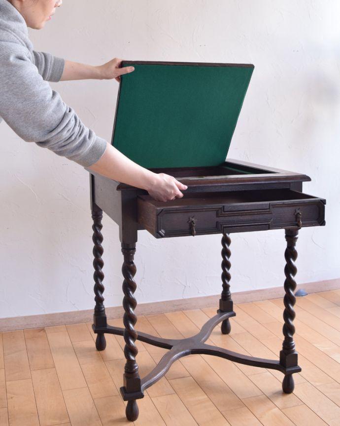 j-1480-f-1 アンティークオケージョナルテーブル(ゲームテーブル)の組み立て