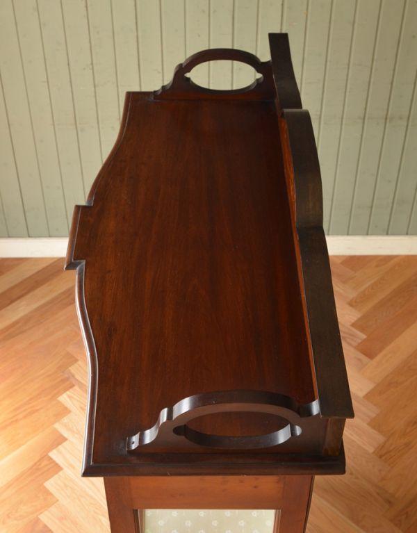 j-1495-f アンティークガラスキャビネットの天板