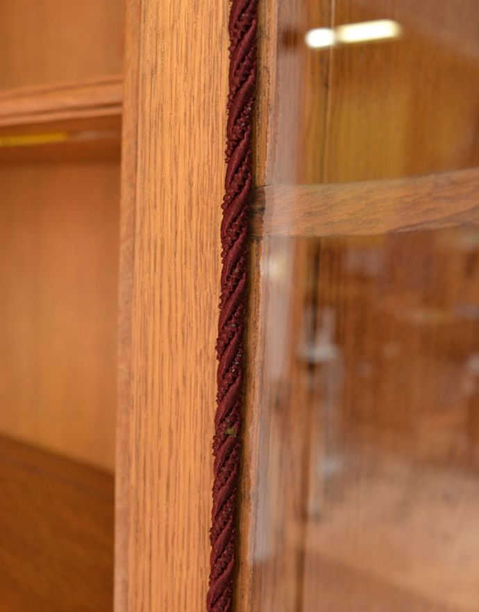 j-1672-f アンティークガラスキャビネットのガラス