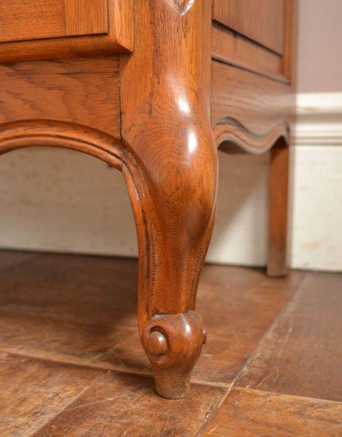 j-1672-f アンティークガラスキャビネットの脚
