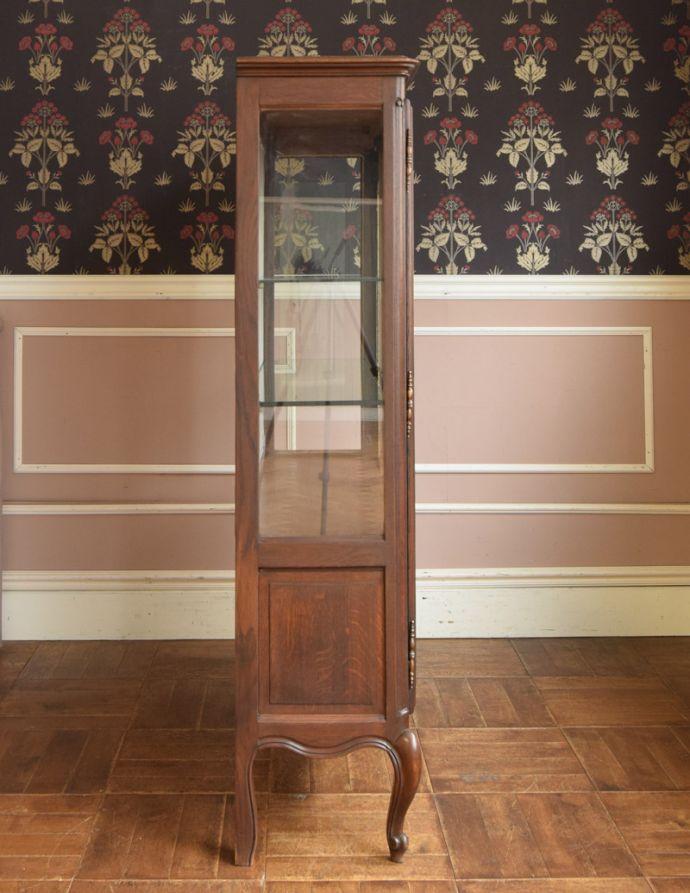 j-1681-f アンティークガラスキャビネットの横
