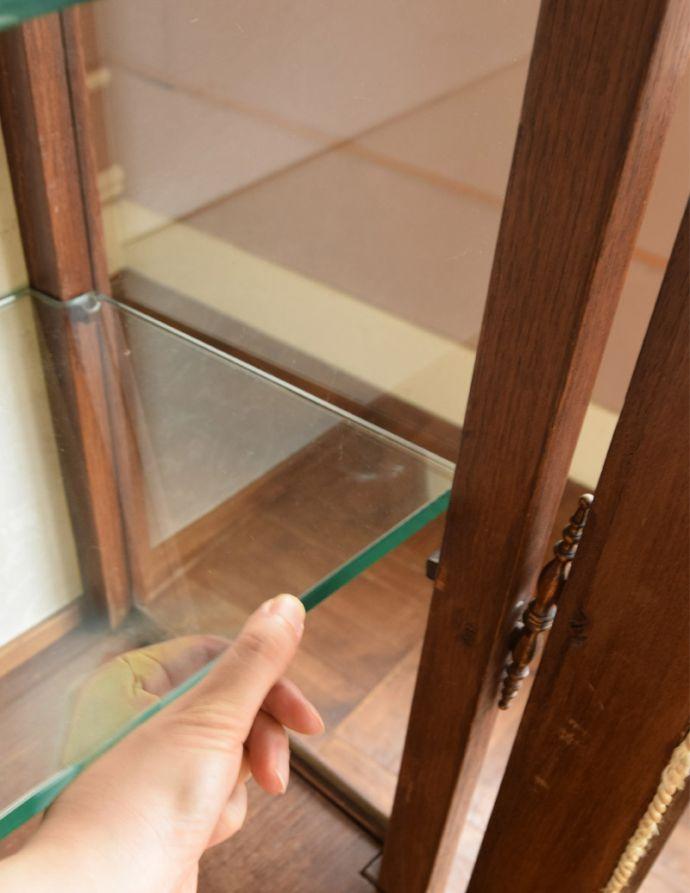 j-1681-f アンティークガラスキャビネットの棚板
