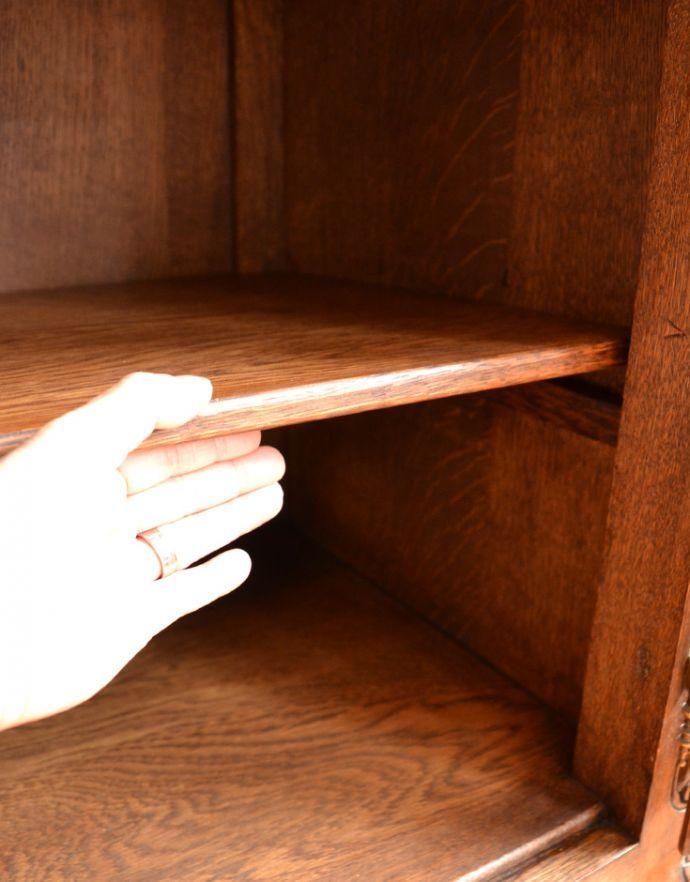 j-1704-f アンティークガラスキャビネットの棚板・下
