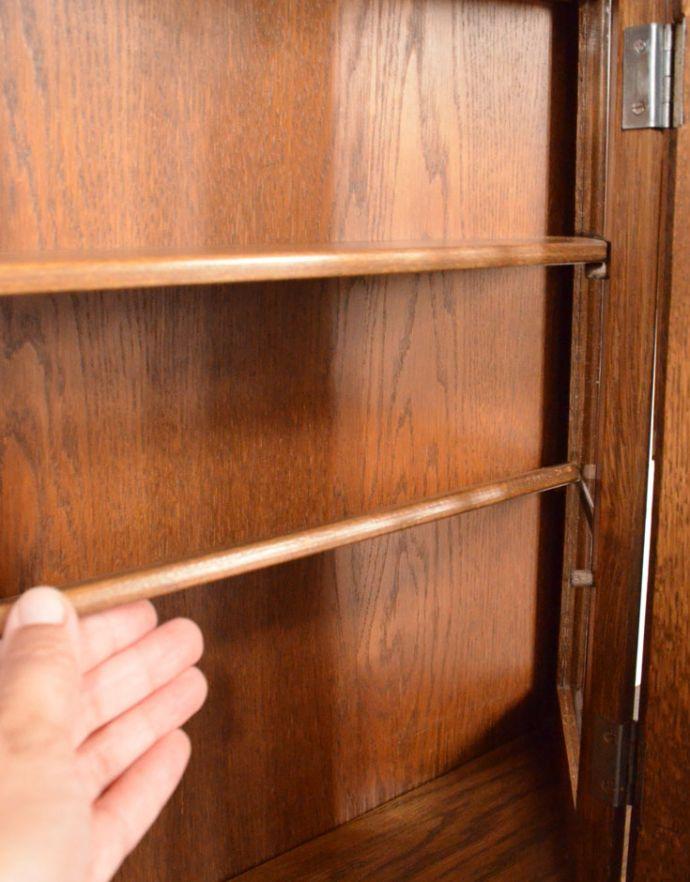 j-1722-f アンティークウォールガラスキャビネットの棚板