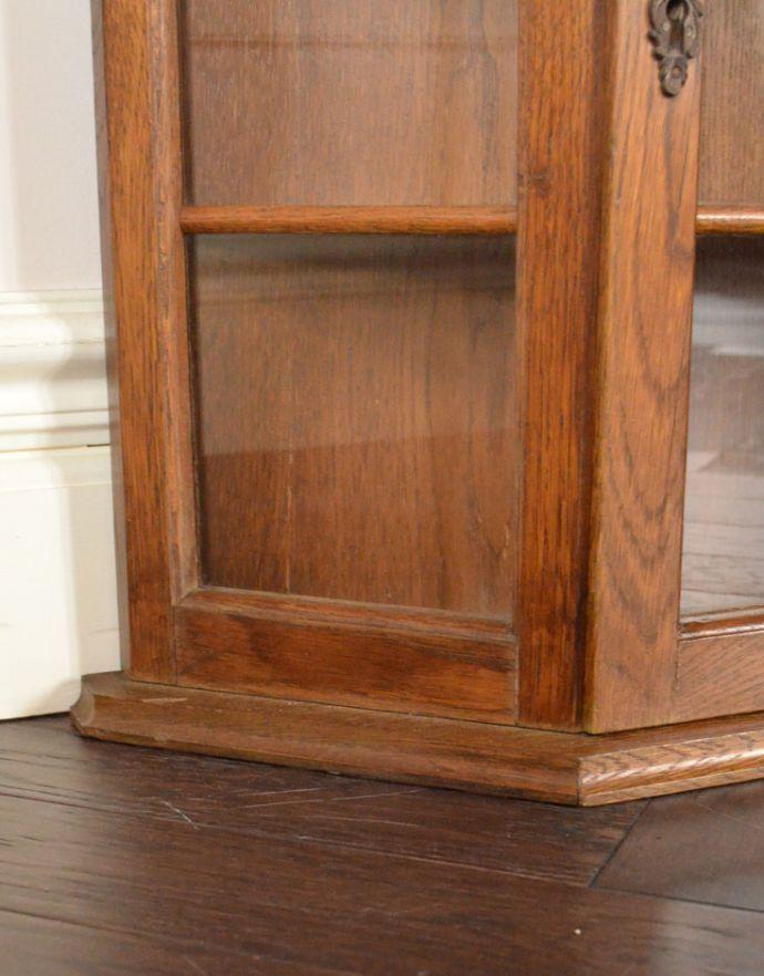 j-1722-f アンティークウォールガラスキャビネットの脚