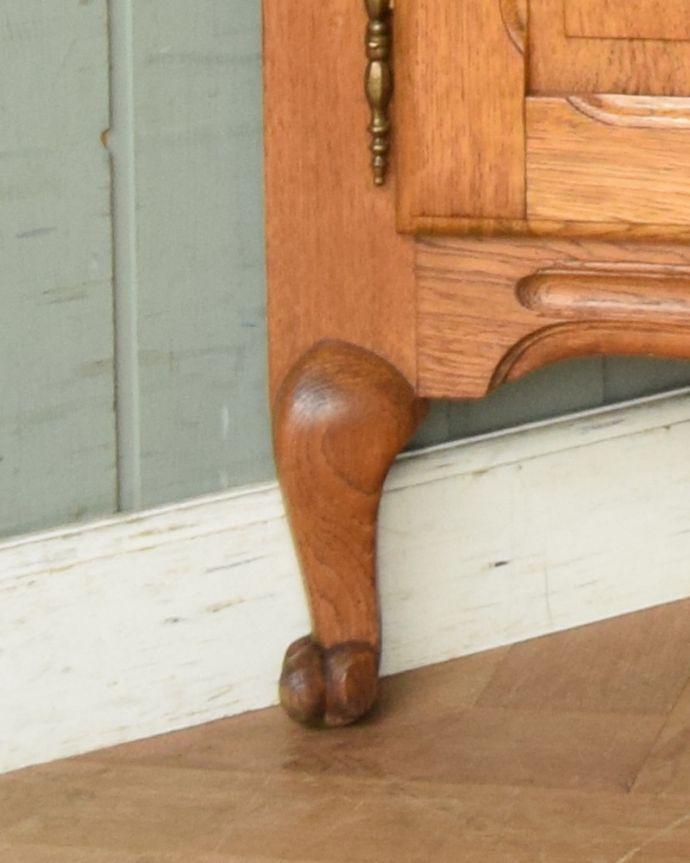 j-1749-f アンティークコーナーキャビネットの脚