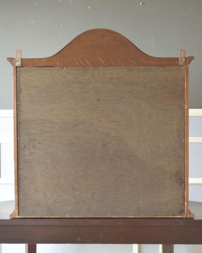 j-1763-f アンティークウォールガラスキャビネットの後ろ