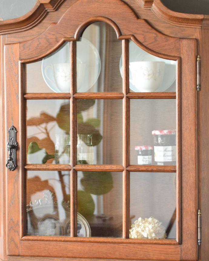 j-1763-f アンティークウォールガラスキャビネットのガラス扉