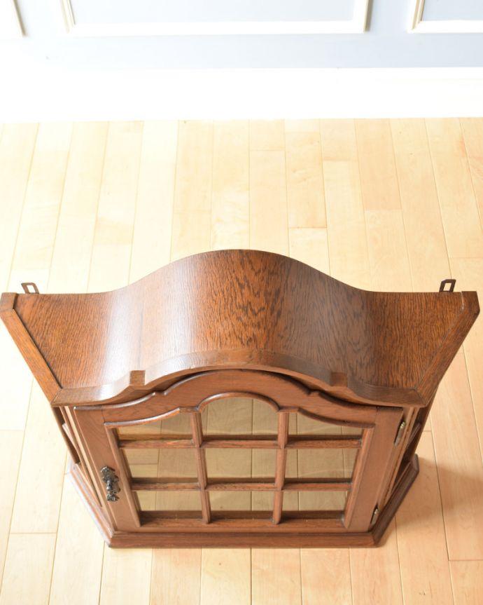 j-1763-f アンティークウォールガラスキャビネットの天板