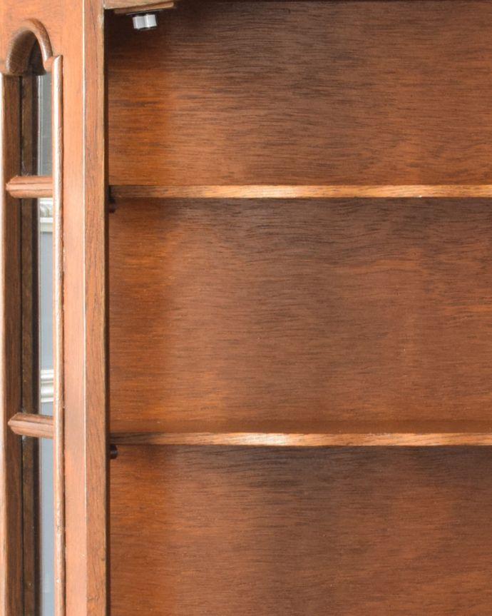 j-1763-f アンティークウォールガラスキャビネットの棚板